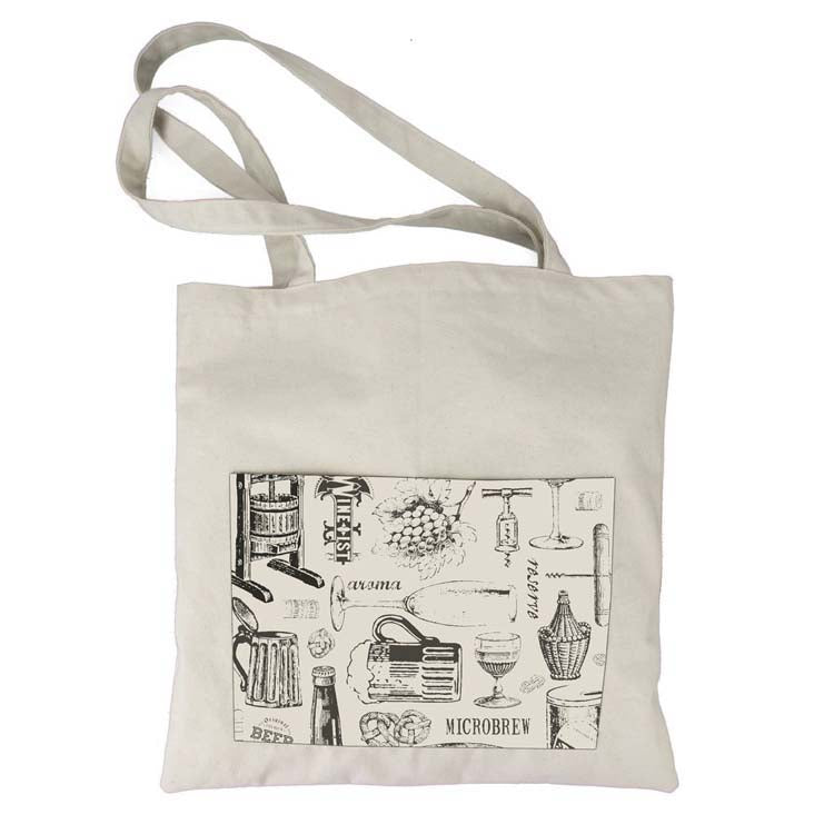 Canvas Corp Tote Bag Vino & Ale