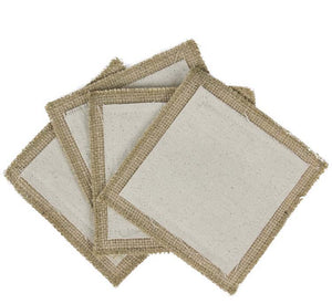 Canvas Corp Canvas & Burlap Square Coasters (10 pcs)
