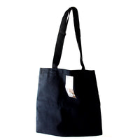 "Canvas Corp Black Canvas Flat Tote 13"" x 13"""