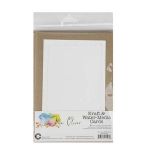 Canvas Corp Stitched Water Media Greeting Cards w/Envelope (6 pcs)