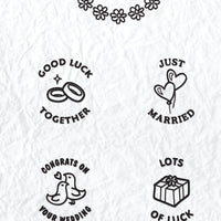Circle Clear Stamp English Text - Marriage