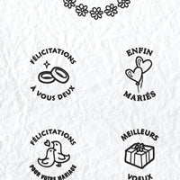 Circle Clear Stamp French Text - Marriage