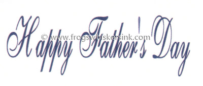 Frog's Whiskers Stamps - Happy Father's Day