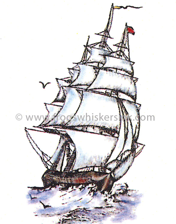 Frog's Whiskers Stamps - HMS Grace Sm Cling Mount Stamp