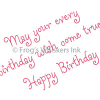 Frog's Whiskers Stamps - May Your Every