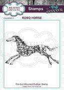 Pre Cut Rubber Stamp by Andy Skinner Robo Horse