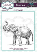 Pre Cut Rubber Stamp by Andy Skinner Elephant