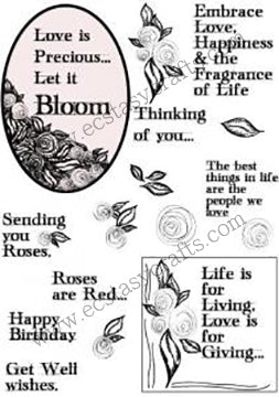 Creative Expressions - Clear Stamps - Scribble Rose