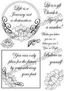 Creative Expressions - Clear Stamps - Lotus Frame