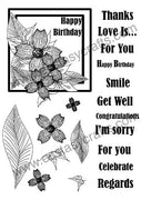 Creative Expressions - Clear Stamps - Dogwood Flower Frame Set