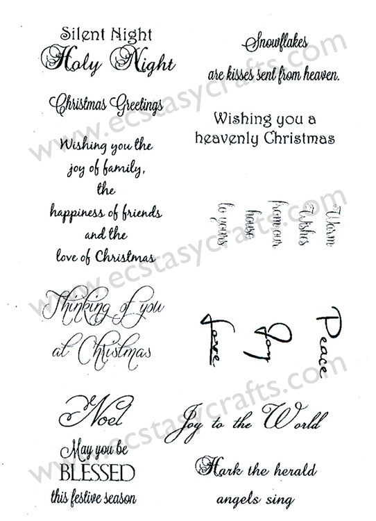 Creative Expressions - Clear Stamps - Peace Joy Love