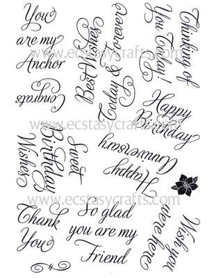 Creative Expressions - Clear Stamps - Elegant Sentiments