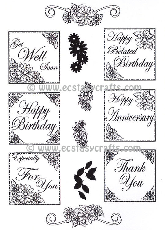 Creative Expressions - Clear Stamps - Daisy Everyday Sentiments