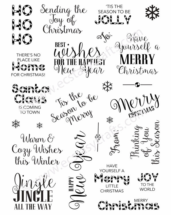Creative Expressions - Clear Stamps - Santa's Sentiments