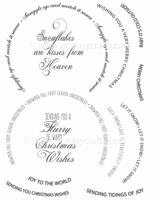 Creative Expressions - Clear Stamps - Snow Globe Sentiments