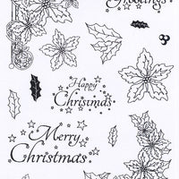 Creative Expressions - Clear Stamps - Poinsetttia Corner Elements