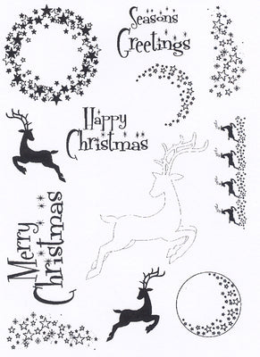 Creative Expressions - Clear Stamps - Elegant Stars & Reindeer