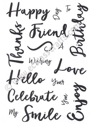Creative Expressions - Clear Stamps - Stylish Script