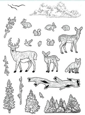Creative Expressions - Clear Stamps - Forest Life