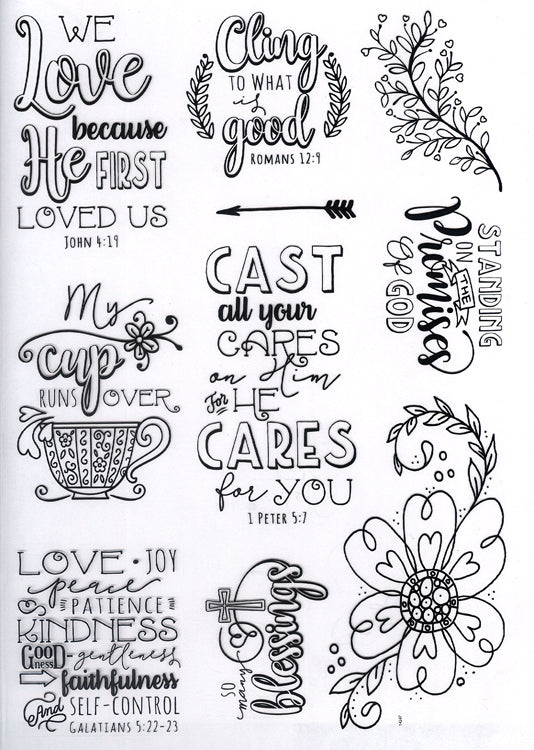 Creative Expressions - Clear Stamps - Promises Journaling