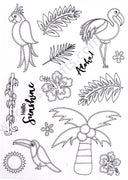 Creative Expressions - Clear Stamps - Tropical Island
