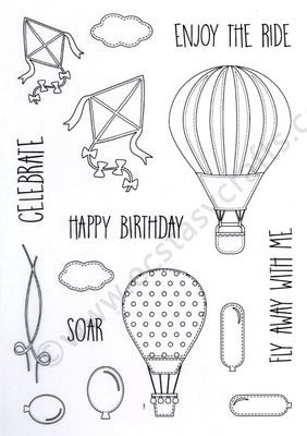 Creative Expressions - Clear Stamps - Let's Fly Away