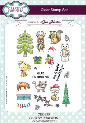 Creative Expressions - Clear Stamps - Festive Friends