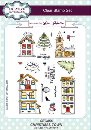 Creative Expressions - Clear Stamps - Christmas Town