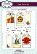 Creative Expressions - Clear Stamps - Festive Tags