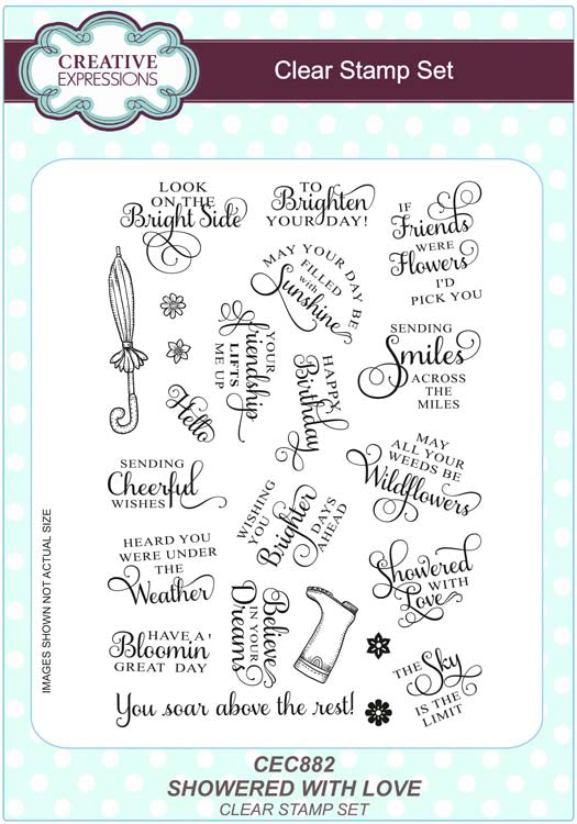 Creative Expressions - Clear Stamps - Showered With Love