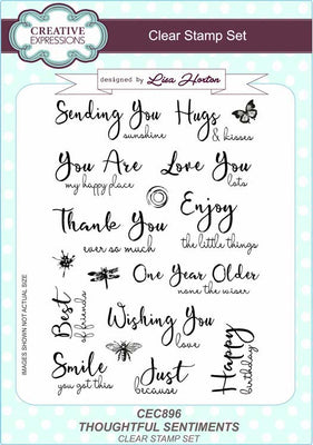 Creative Expressions - Clear Stamps - Thoughtful Sentiments