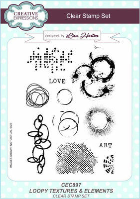 Creative Expressions - Clear Stamps - Loopy Textures & Elements