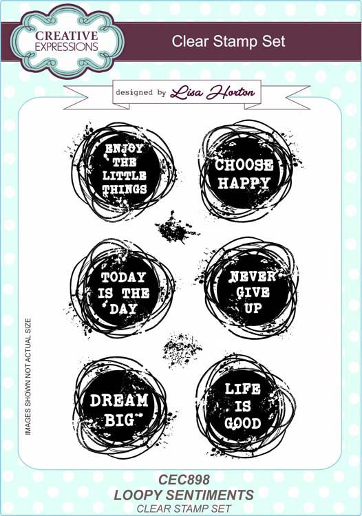 Creative Expressions - Clear Stamps - Loopy Sentiments