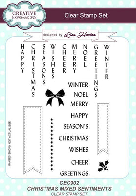 Creative Expressions - Clear Stamps - Christmas Mixed Sentiments