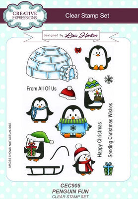 Creative Expressions - Clear Stamps - Penguin Fun