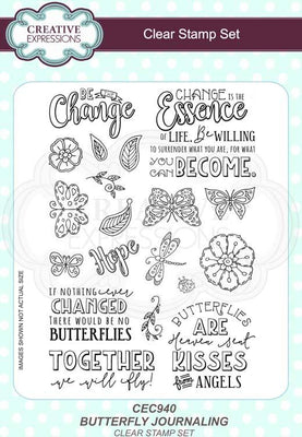 Butterfly Journaling A5 Clear Stamp Set