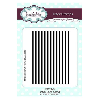 Parallel Lines A6 Clear Stamp Set