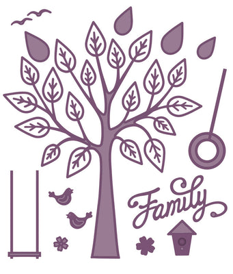 Sue WIlson - Finishing Touches Collection - Family Tree Die