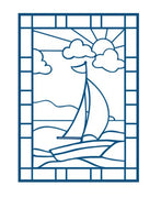 Sue Wilson Dies - Stained Glass Collection - Sail Boat Die