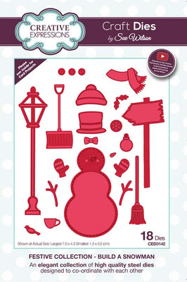 Sue Wilson Dies - Festive Collection - Build A Snowman