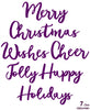 Creative Expressions Collection - Die Stylish Script - Christmas Wishes