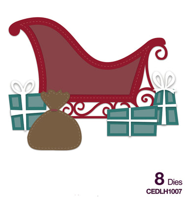Creative Expressions Collection - Die Creative Expressions Collection - Stitched Collection - - Sleigh