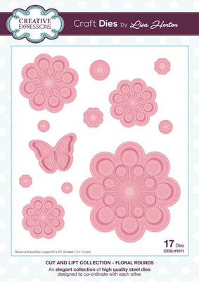 Creative Expressions Collection - Cut and Lift Collection Floral Rounds Craft Die