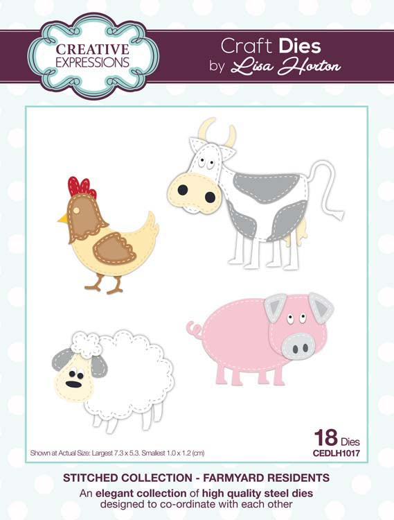 Creative Expressions Collection - Creative Expressions Collection - Stitched Collection - Farmyard Residents Craft Die
