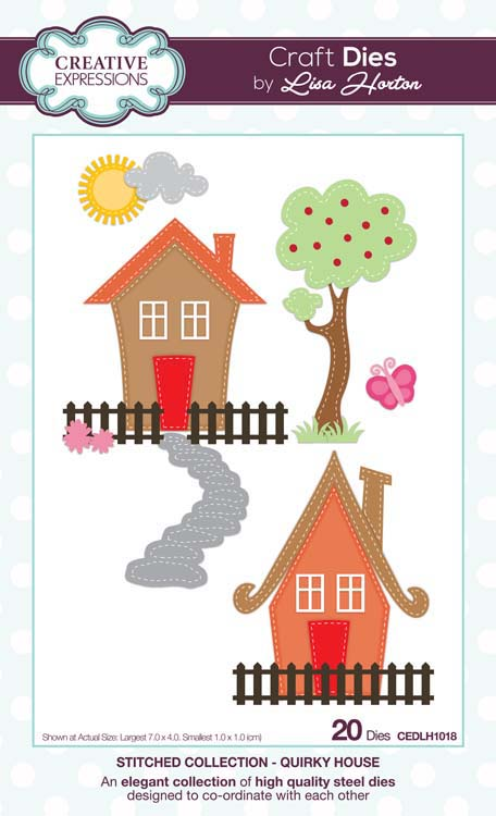 Creative Expressions Collection - Creative Expressions Collection - Stitched Collection - Quirky House Craft Die