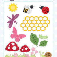 Creative Expressions Collection - Creative Expressions Collection - Stitched Collection - Garden Critters Craft Die