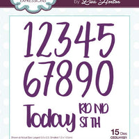 Creative Expressions Collection - Stylish Script Collection Essential Numbers Craft Die