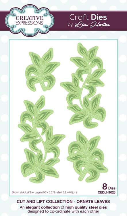Creative Expressions Collection - Cut and Lift Collection Ornate Leaves Craft Die