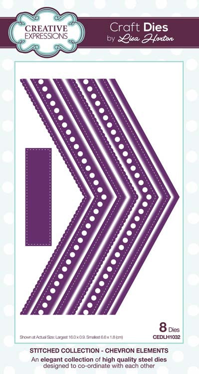 Creative Expressions Collection - Stitched Collection - Chevron Elements Craft Die