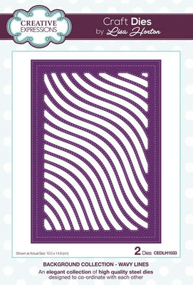 Creative Expressions Collection - Background Collection Wavy Lines Craft Die